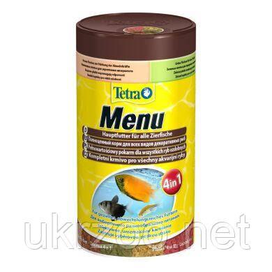 Сухой корм для аквариумных рыб Tetra в хлопьях «Menu» 250 мл (для всех аквариумных рыб) 767393