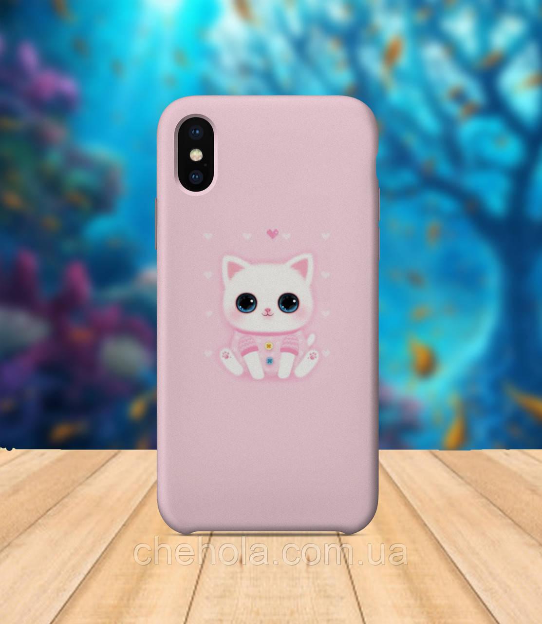 Чохол для apple iphone x XS max Котик чохол з принтом