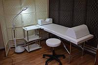 Кушетка косметолога / Кушетка чемодан для наращивания ресниц. 185х60 см. Эко-кожа Италия, Люкс