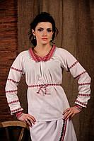 Женская вышиванка с воротником, размер 44