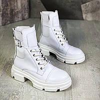 Женские кожаные демисезонные спортивные ботинки 36-40 р белый