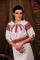 Женская вышиванка с поясом-резинкой, размер 44
