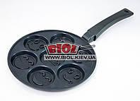 Сковорода для оладьев 24х1,9см с антипригарным покрытием БИОЛ СО-24П