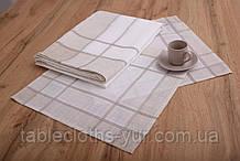 Салфетки сервировочные Лен Квадратные 40-40 Белый с светлыми краями