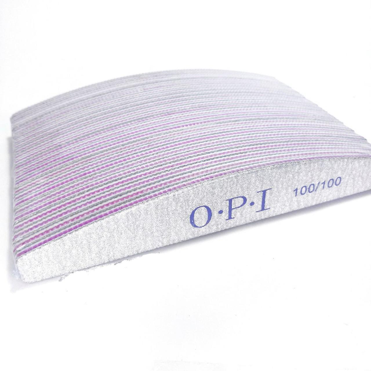 Пилочки для ногтей OPI 100/100 25 шт лодочка - Пилки для ногтей OPI Пилка для ногтей 100 100 для маникюра