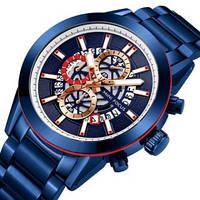 Красивые мужские часы Mini Focus MF0285G All Blue кварцевые