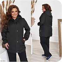 Женская куртка-ветровка на подкладе батал, размеры 48-50, 52-54, 56-58, 60-62, 64-66