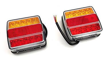 Комплект водонепроникних універсальних світлодіодних ліхтарів LED 12V, фото 3