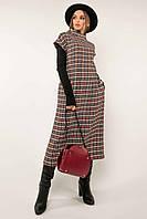 ✔️ Женский сарафан платье в клетку длины миди 42-56 размера разные расцветки