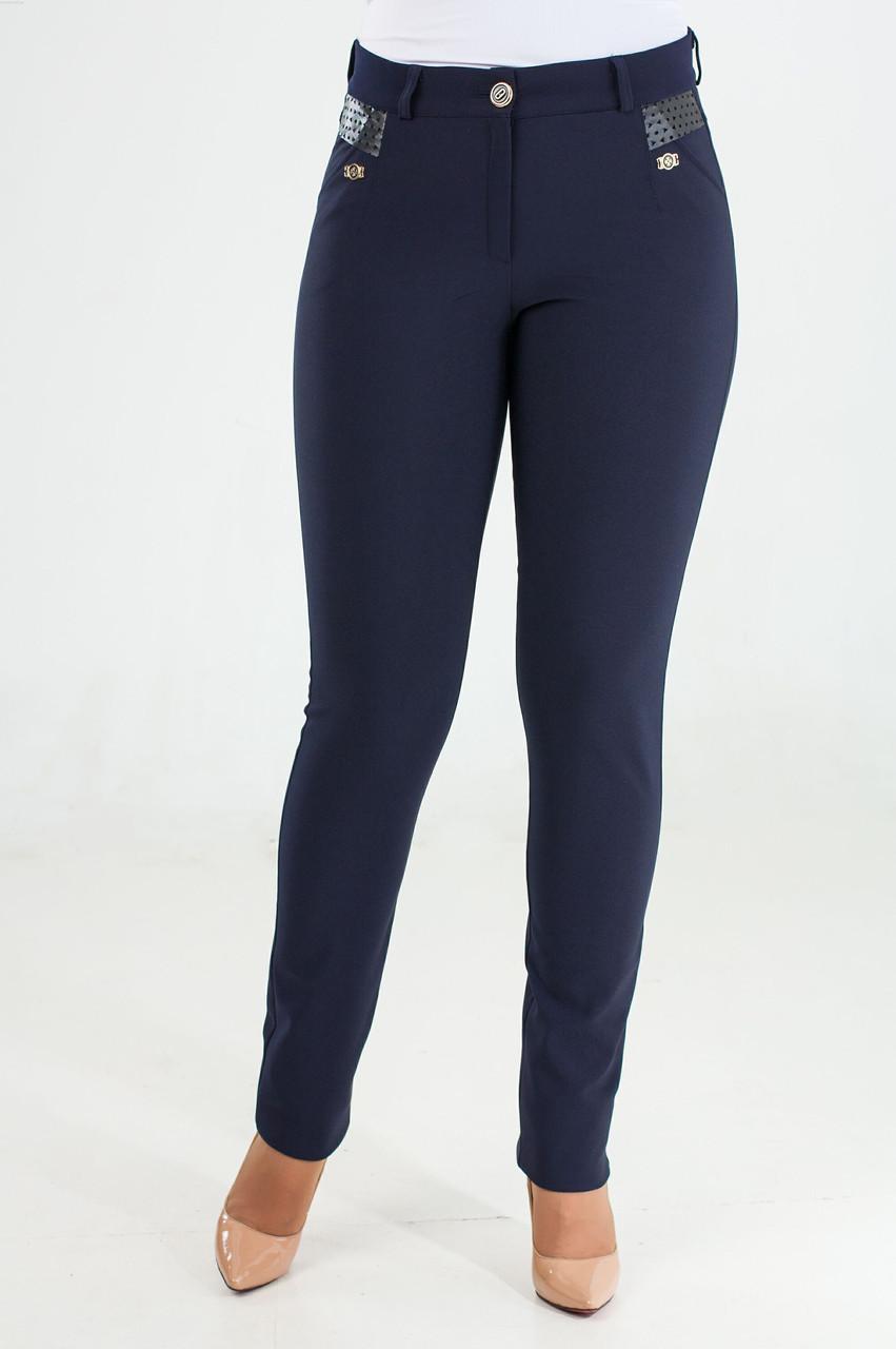 6a5cd8778795 Женские утепленные брюки молодежные Ерика синего цвета