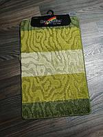 Набор ковриков в ванную и туалет 80*50 см Banyolin зелёный, фото 1