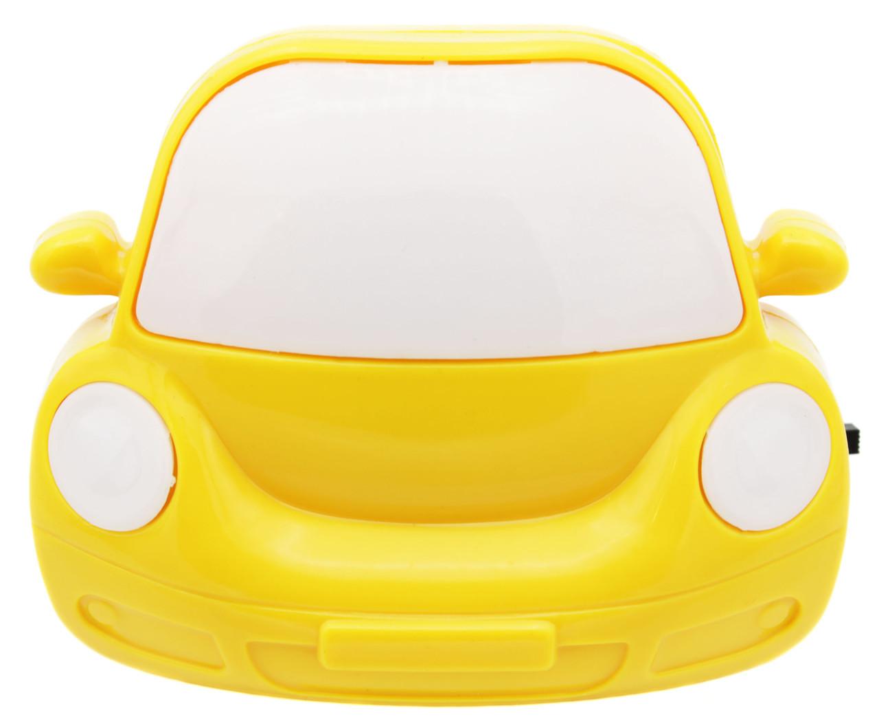 """Ночник """"Машинка"""" на светодиодах, цветной с выключателем 220V 3 LED"""