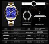 Часы оригинальные мужские наручные кварцевые Megalith 0037M Silver-Gold-Blue / стальной ремешок, фото 4