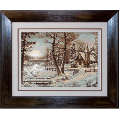 Наборы для вышивания Гобелен Luca S Пейзажи Зимний пейзаж