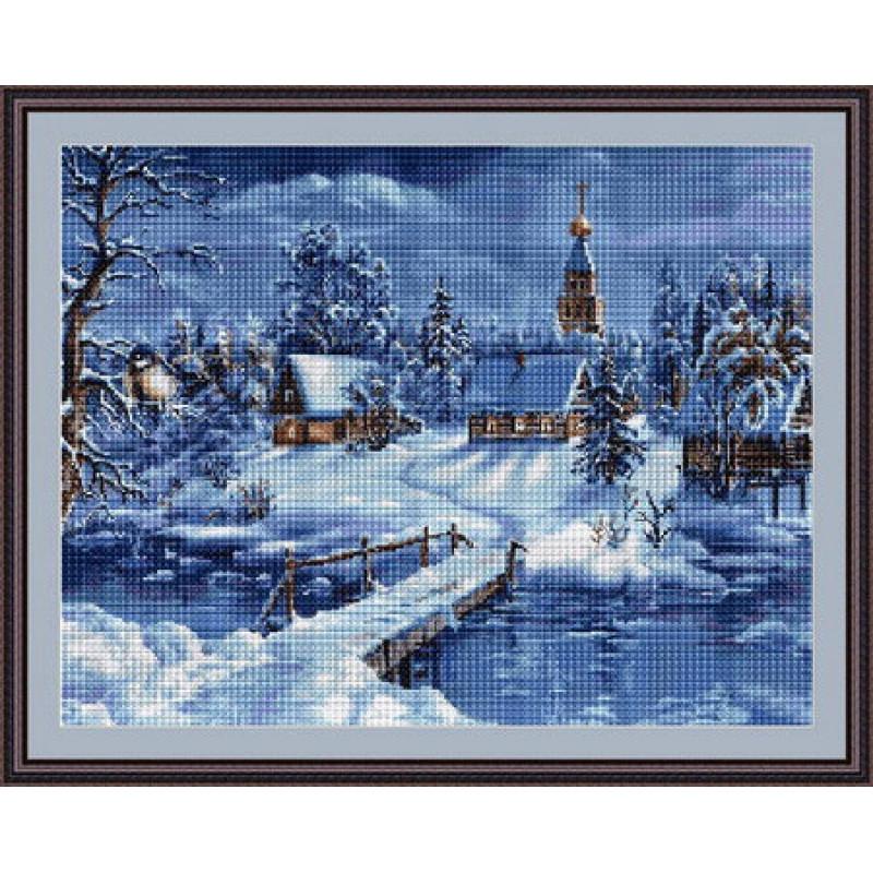 Набори для вишивання хрестом Luca S Пейзажі Зимовий пейзаж