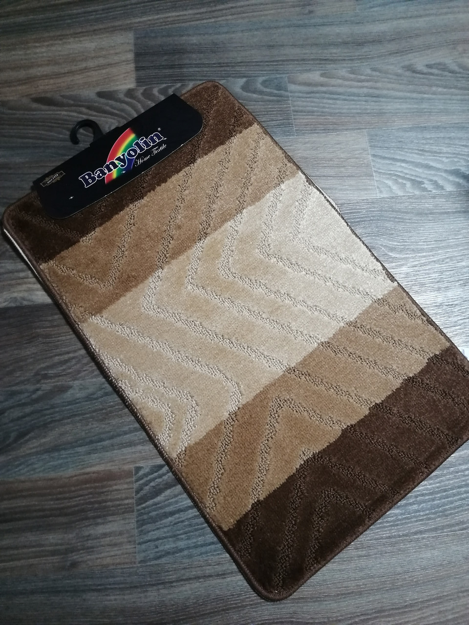 Набор ковриков в ванную и туалет 80*50 см Banyolin Коричневый