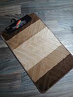 Набір килимків в ванну і туалет 80*50 см Banyolin Коричневий, фото 1