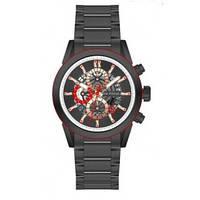 Красивые мужские часы кварцевые Mini Focus MF0285G All Black