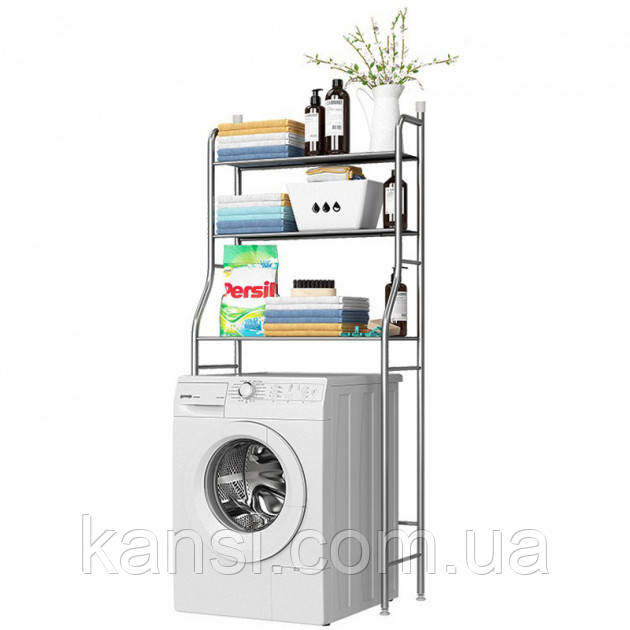 Стелаж, полиця для зберігання над пральною машиною регульований по висоті LAUNDRY RACK TW-106