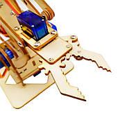 Робот манипулятор роботизированная рука комплект (фанера), фото 3