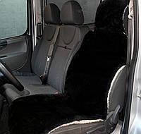 Универсальная Накидка чехол на сиденье автомобиля из овчины Sheepskin (Эко-шерсть) 1 шт Черный