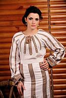 Женская вышиванка из льна, размер 44