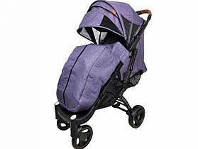 Прогулочная Коляска Yoya Plus Max 2021 Фиолетовая рама черная
