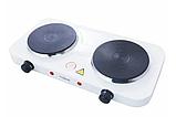 Двухконфорочная электроплита дисковая настольная электрическая плита Crownberg CB-3746 2000W AVE, фото 4