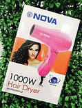 Фен для волос дорожный Nova 1000W со складной ручкой AVE, фото 9