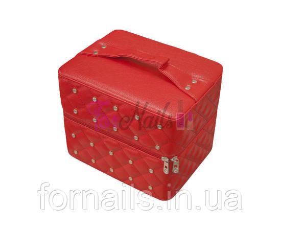 Б'юті кейс, 2 висувні полиці, червоний