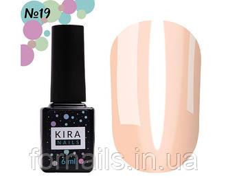 Гель-лак Kira Nails Vitrage №V19 (персиковый, витражный), 6 мл