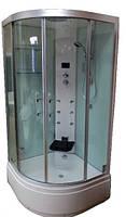 Гидромассажный паровой бокс со средним поддоном EAGO DZ1002F11 (с белыми задними стенками), 1000х1000х2300 мм