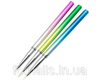 Набор кистей для рисования Global Fashion 3 шт, Rainbow L-37