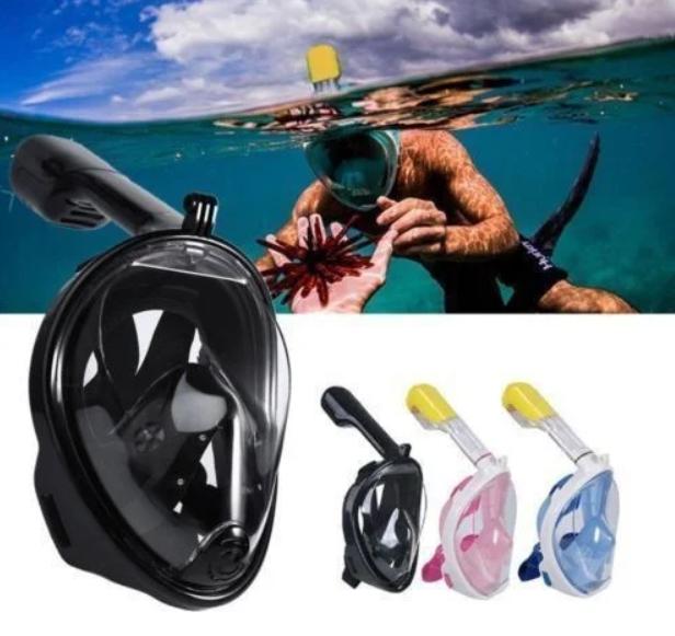 Дайвинг маска Tribord Easybreath Black 4 для подводного плавания (сноркелинга) c креплением для камеры GoPro