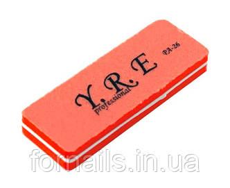 Баф-шлифовщик для ногтей YRE PA-26, 100/180, цвет оранжевый