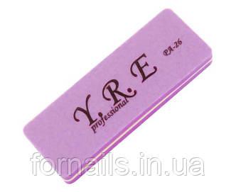 Баф-шлифовщик для ногтей YRE PA-26, 100/180, цвет фиолетовый