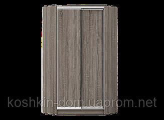 Угловой шкаф-купе с фасадами ДСП