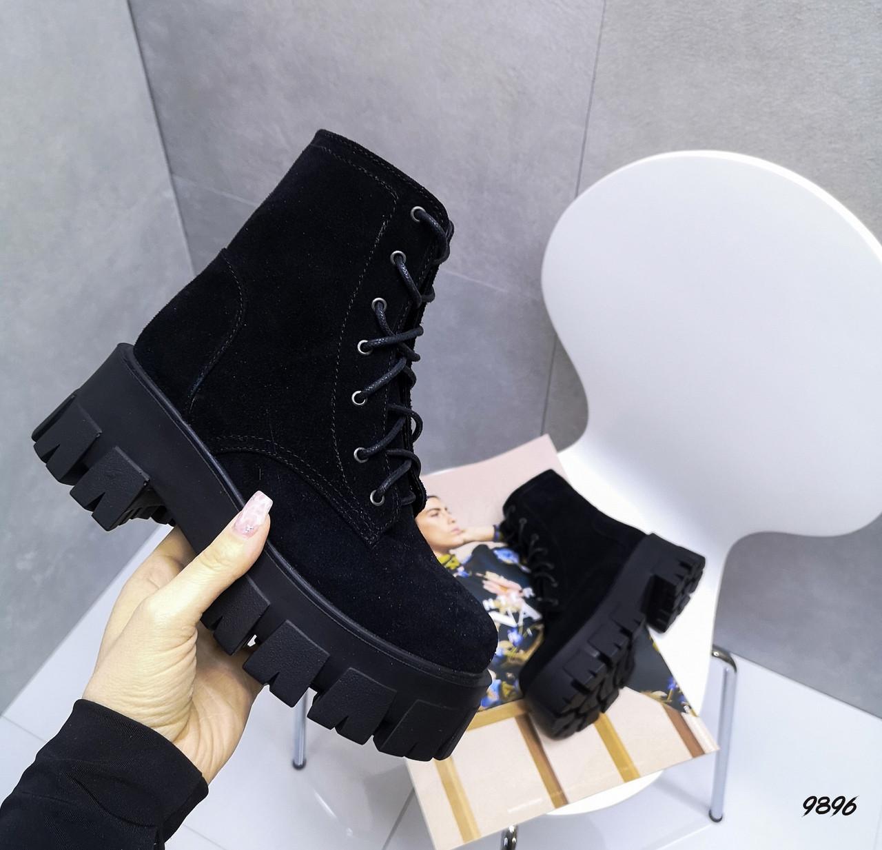 Женские ботинки цвет -Black Материал - Нат.замша