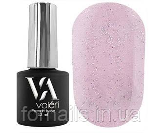 Valeri French base №021 (нежно-розовый с серебрянным микроблеском), 12 мл