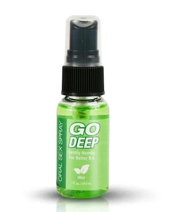 Мятный спрей для орального секса Topco Sales Go Deep Oral Sex Spray Mint, 29,57 мл, фото 2