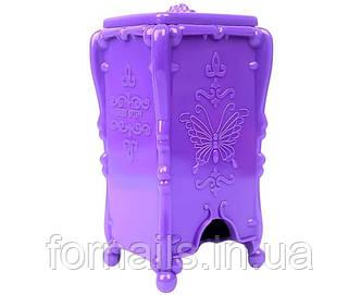 Подставка для безворсовых салфеток фиолетовая, бабочки (G55)