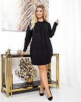 Платье PEONY Мюсен 48-50 Черный (1611201-48-50:16)