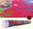 Медвежонок с розой Набор для вышивания крестиком с печатью на ткани 14ст, фото 3