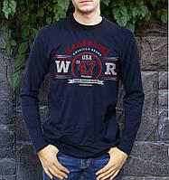 Модная мужская футболка лонгслив WRANGLER