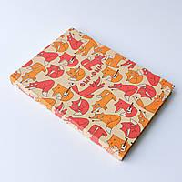 Скетчбук А5 130 страниц Лисички в твёрдой обложке