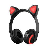 Наушники SUNROZ ZW-19 наушники с кошачьей ушками LED подсветка 7 цветов Черный
