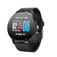 Умные часы фитнес браслет Lemfo V11 с тонометром и пульсоксиметром (Черный)