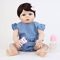 Кукла реборн 57 см полностью виниловая девочка Вероника