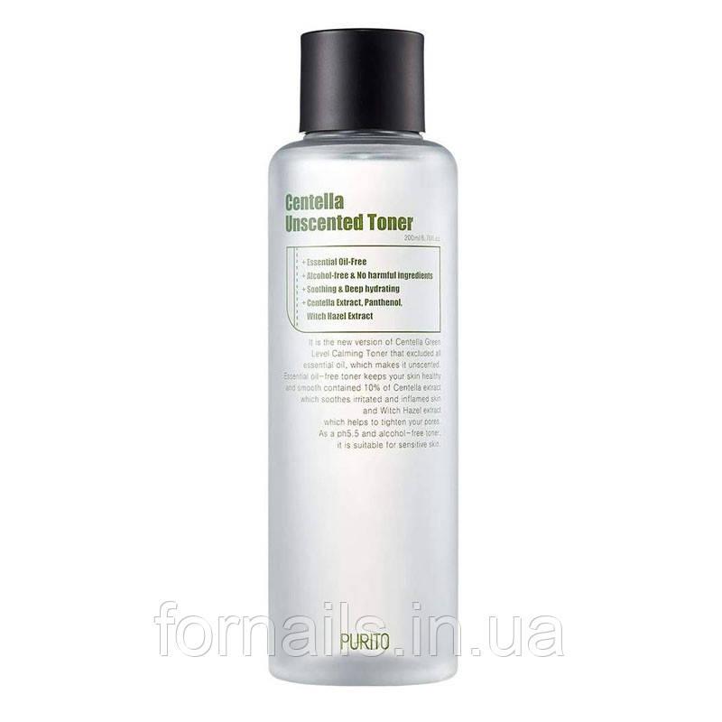 Успокаивающий тонер для чувствительной кожи без масел PURITO Centella Unscented Toner 200 мл