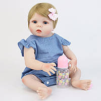 Кукла реборн 57 см полностью виниловая девочка Ульяна
